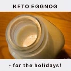 Keto Eggnog – for the holidays