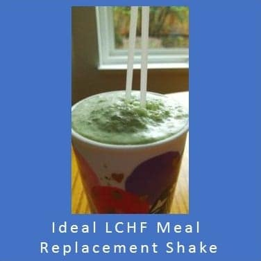Ideal Low Carb High Fat Meal Replacement Shake