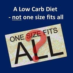 Low Carb Diets are not one size fits all