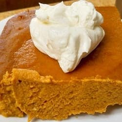 Low Carb Pumpkin Pie – with or without the crust