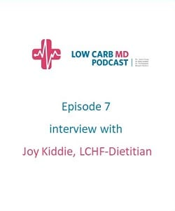 Episode 7 Low Carb MD Podcast – interview with Joy Kiddie, LCHF-Dietitian