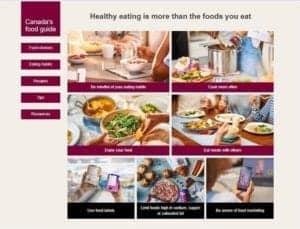 "Canada Food Guide ""Snapshot"""