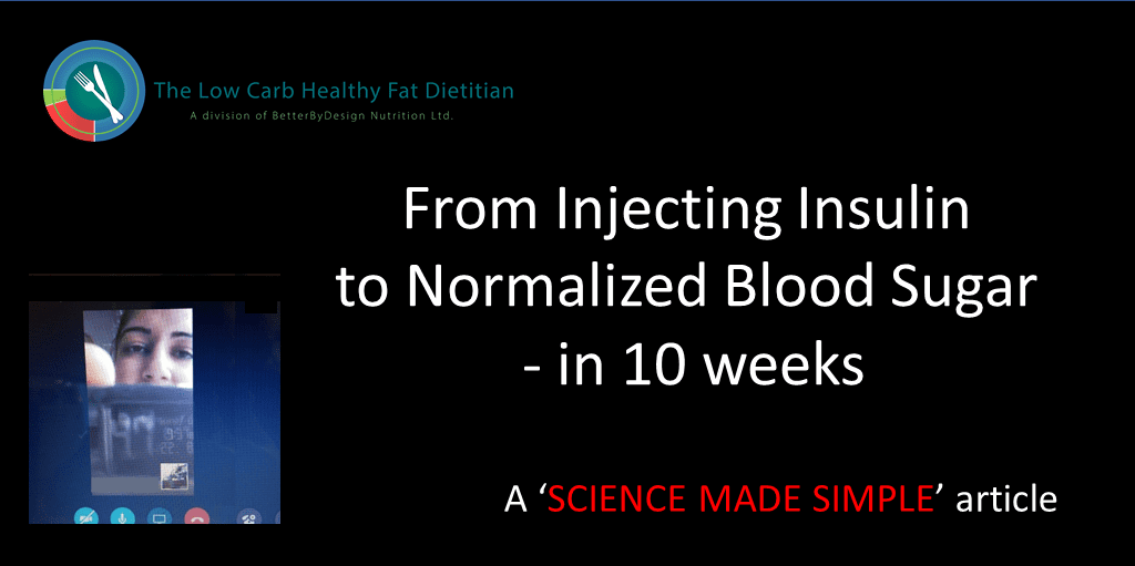 From Injecting Insulin to Normalized Blood Sugar – in 10 weeks